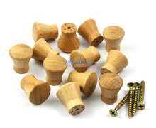 50 Pieces 17mm Wooden Drawer Knob Pull Cabinet Knob Wood Knob Furniture Handle