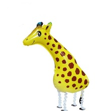 10pcs Walking Pet Balloons Giraffe Walking Balloons Animal Foil Balloon Party Decoration Supplies  Toy Kids Gift Globos Balony