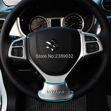 For Suzuki Vitara Escudo 2015 2016 2017 Interior Accessories ABS Matte Steering Wheel Cover Steering Wheel Moulding Car Styling(China)