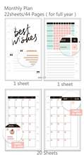 Dokibook Winter Series Personal Planner Filler Paper Day Diary Notebook Kawaii A567 Weekly Schedule Refill Organizer 2017 Agenda