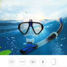 Snorkel sambo anti-fog mask goggles swimming mask equipped with dry breathing tube(China)
