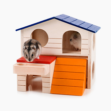 High Sales Woody Double Layer Hamsters Hidden Comfort House Small Animal Entertainment Lnteractive Toys Wholesale Sales