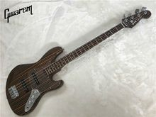 Electric guitar/Gwarem JA-ZZ bass guitar/zebrawood body and neck/bass guitar in china(China)