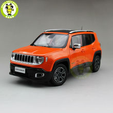 1/18 Jeep Renegade Cherokee Diecast Metal Car Suv Model Collection Gift Orange Color(China)