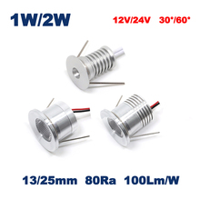 1W 2W 12V 24V 13mm 25mm Mini Led Bulb Downlight Lamp 80Ra 100Lm/W 30 60 Degree Spot Cabinet and Stair Lamp CE RoHS(China)