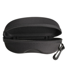 2017 New Zipper Eye Glasses Sunglasses Hard Case Cover Bag Storage Box Portable Protector Black High Quality