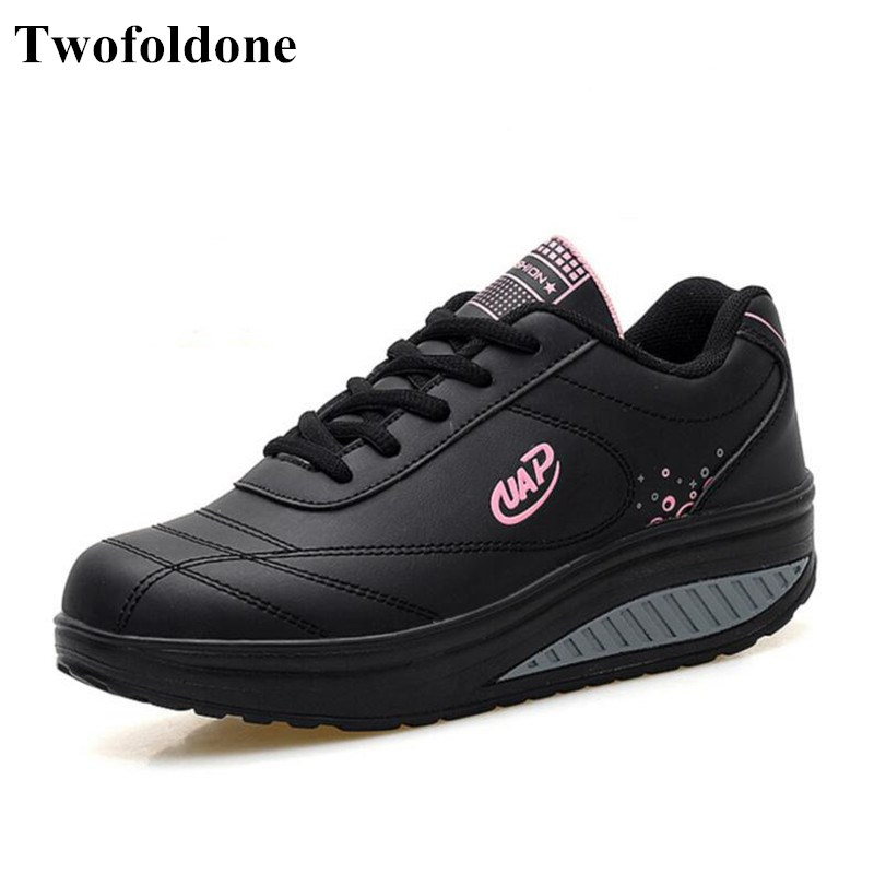 Spring/Autumn Platform Sneakers Women Leather Sports Shoes Waterproof Footwear 35-40 Girls Light Athletic Running Shoes