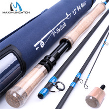 Maximumcatch 4/5/6/7/8/9wt Switch Fly Fishing Rod Graphite IM10 / 36T Carbon Fiber 11FT 4PCS Fast Action Fly Rod