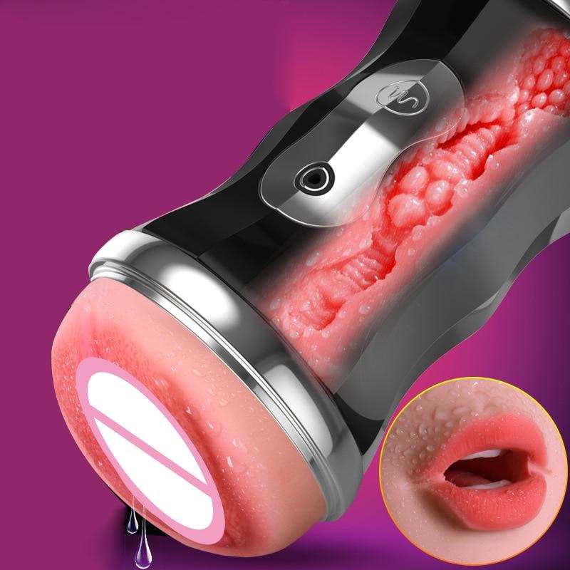 Male Masturbator Oral Masturbator For Man Vibrator Deep Throat Pocket Pussy Realistic Vagina Mens Cup Masturbator For Man<br>