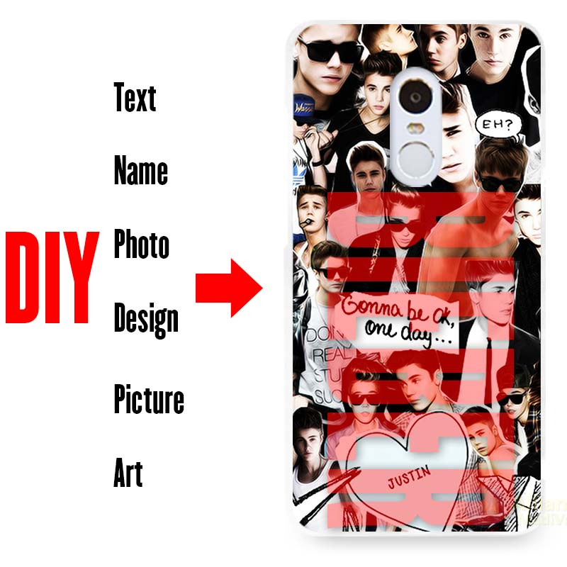 DIY Photo Name Text Customized Hard Cell Phone Case Cover Shell Coque for Xiaomi Mi Redmi Note 3 3S 4 Pro 4X 4A 5 5S 6 Plus 5C(China (Mainland))