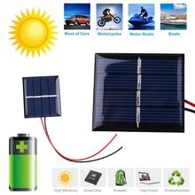 DC 6V 2W 330mA Epoxy Sunpower Solar Power Panel DIY Module For Cell Phone Battery Charger Charging Car Boat Rechargeable