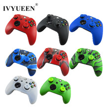 IVYUEEN 1 x Soft Silicone Protective Skin Case Cover + 2 x Thumb Sticks Caps Grips for Microsoft Xbox One 1 Wireless Controller(China)