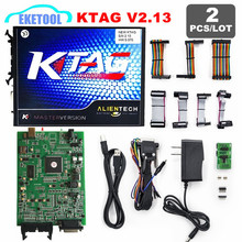2pc/Lot Newest Generation KTAG 2.13 ECU Programming Tool Alientech Master K TAG V2.13 No Tokens Limited K-TAG ECU Chip Tuning