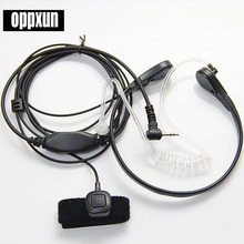 Throat Mic Microphone Covert Acoustic Tube Bodyguard FBI Earpiece Headset With Finger PTT for Motorola Talkabout Cobra Radio