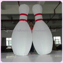 Custom 10ft giant inflatable bowling pins for bowling ball game advertising