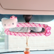 OHANNY Cartoon Hello kitty fabric girls pink car rearview mirror sets car covers auto interior car-styling  styling accessories