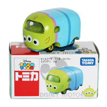 Disney Toys Cute Mini Tomica Tomy Tsum Kawaii Cartoon Toy Story Alien 1:64 Diecast Metal Cars Toy Model Juguetes Gifts(China)