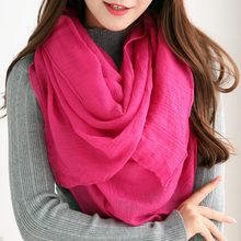 New Fashion 2017 Women Scarf Vintage Ladies Solid Color Black Red White Scarves Warp shawl female