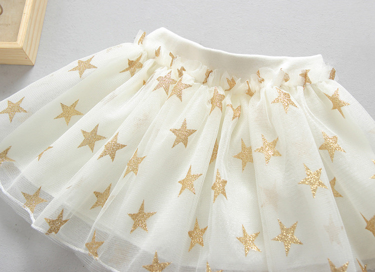 Fanfiluca New Baby Girl Clothes Tutu Skirt Ballerina Pentagram Children Ballet Skirts Party Dance Princess Girl Tulle Miniskirt010