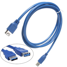 Best New 0.5/1/1.8m USB 3.0 A Male Plug to Female Socket Super Fast Extension Cable Cord 3FG A4JX