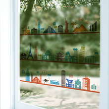 Quality 60x58cm cartoon pattern Frosted Privacy window sticker Film stained-glass-film Decorative adhesive stained glass film(China)