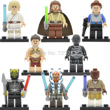 Single Sale figure Slave Leia Ahsoka Tano Mace Windu eath Star Droid Luke Star Wars Savage Building Blocks Model Toys PG8028(China)