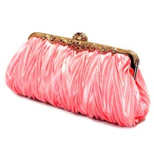 Fashion Bling Crystal Satin Evening Bag Clutch Handbag Purse Girl Soft Crystal Clutch Bridesmaid Hand bag for Wedding Party(China)