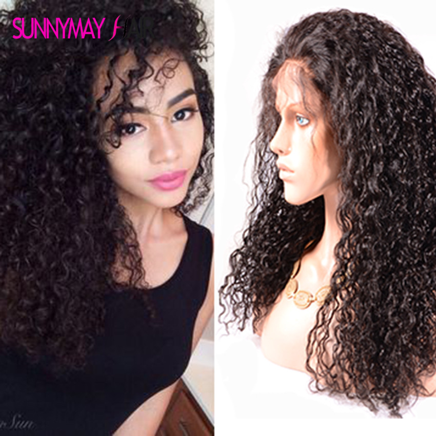 Sunnymay 300% Density Human Hair Wig Glueless 8A Grade Brazilian Virgin Human Hair Lace Front Wig With Baby Hair For Black Women<br><br>Aliexpress