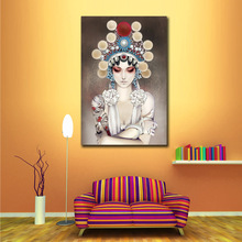 Chinese Figure Peking Opera Face Wall Art Pictures Modern Oil Painting by Numbers Home Decor for Living Room Bedroom