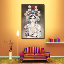 Chinese Figure Peking Opera Face Wall Art Pictures Modern Oil Painting by Numbers Home Decor for Living Room Bedroom(China)