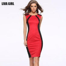 Buy 2016 New Summer Women Sexy Dress Slim Pencil Dresses Casual Sleeveless O-neck Women Clothing Elegant Femininas Business Vestidos for $14.05 in AliExpress store