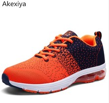 Sport Sneakers Men's Shoes Running Shoes Flywire Technology Athletic Trainers green/orange Cushioning Running Shoes