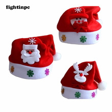 fightinpc Kid Cheer Christmas Hat Children Santa Claus Reindeer Snowman Party Cute Cap wedding decoration(China)