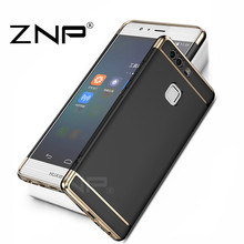 ZNP Electroplated 3 in 1 Phone Case for Huawei P9 lite Cover Anti-knock Protective shell Coque Phone Cases for huawei P9 Case