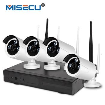 Misecu new plug & chơi 720 p 1080 p vga/hdmi 4ch hd nvr wifi kit không dây nvr 30-50 m tín hiệu P2P 720 p WIFI IP Camera Không Thấm Nước CCTV