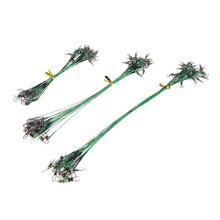 Good deal 72pcs Green Fishing Lure Line Trace Wire Leader Swivel Tackle Spinner Shark Spinning 15/20/28cm(China)