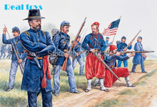 Out of print product! Italeri model 6012 1/72 Union Infantry and Zouaves plastic model(China)