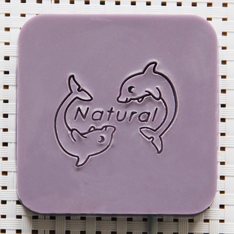 2016 free shipping natural handmade acrylic soap seal stamp mold chapter mini diy dolphin patterns organic glass 4X4cm 0115<br><br>Aliexpress