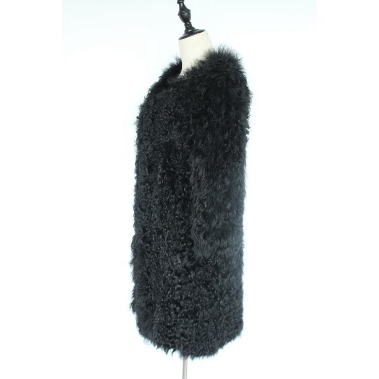 women natural lamb sheep fur coat (16)