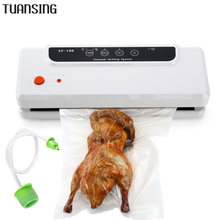 TUANSING Household Multi-function Vacuum Sealer Machine Automatic Food Saver Vacuum Sealing Packer Plastic Packing Machine(China)