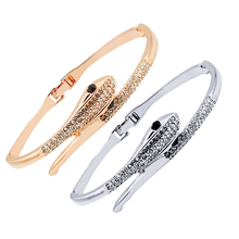 2017 fashion jewelry punk open snake bracelet women with crystals from Swarovski rose gold plated bangle femme CZ diamond gift