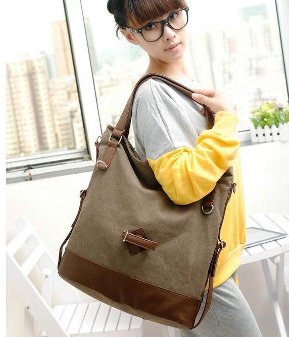 Popular new 2015 women vintage canvas zipper designer large casual tote handbags female shoulder bag bolsa de ombro feminina 5<br><br>Aliexpress