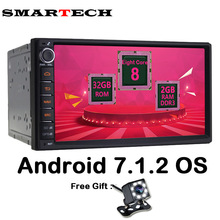 SMARTECH 8Core 2Din Android 7.1 Universal Car Multimedia Player Stereo Radio Audio GPS Bluetooth Wifi Car Intelligent Nissan