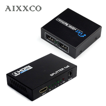 AIXXCO HDCP HDMI Splitter Full HD 1080p Video HDMI Switch Switcher 1X2 1X4 Split 1 in 2 Out Amplifier Display For HDTV DVD PS3(China)