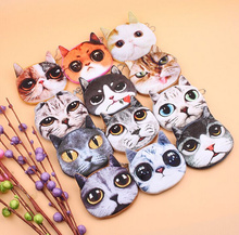 Novelty Cute 3D Animals Cats Doggies 10cm Plush Coin Storage Box Purse Pouch , Keys Storage Wallet Gift Bag Pouch Organizer BOX