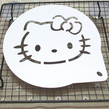 1pcs Hello Kitty For 8 inch cake stencils Baking Mat mold Stencil for Cake Decorating Top