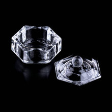 Nail Art Acrylic Crystal Glass Dappen Dish Bowl Cup with Cap Liquid Glitter Powder Caviar Nail Styling Tools