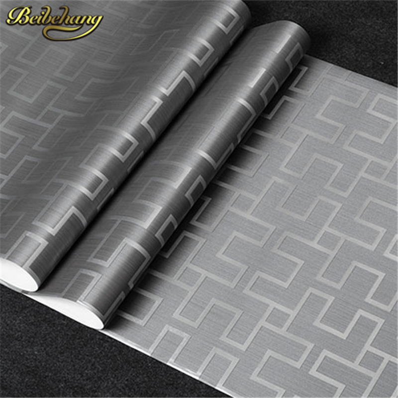 beibehang Exquisite Wallpaper for walls 3 d Vintage Stencilling geometry Plaid Wall Paper Roll For TV Background papel de parede<br>