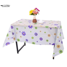 Table Cloth PVC Plastic Rectangle Dust-proof Oil-resistant Table Cloth Tablecloth Picnic Cookout 130cm x 180cm(China)