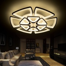 new Style White acrylic ceiling mounting Modern LED Chandelier For Living Room lustres de sala de acrylic chandeliers